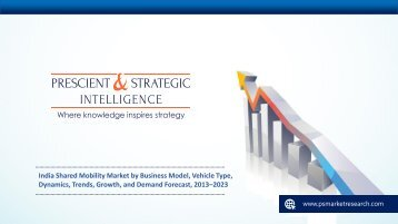 India Shared Mobility Market: Growth, and Demand Forecast, 2013–2023