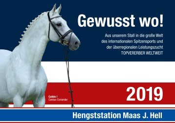 Hengstkatalog Hengststation Maas J. Hell 2019