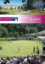PGA Sponsorenheft - Grand Resort Bad Ragaz