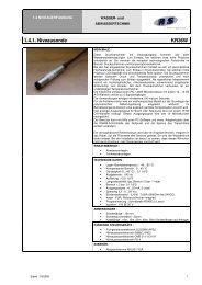 1.4.1. Niveausonde KR36W - Abel Pumpen & Turbinen