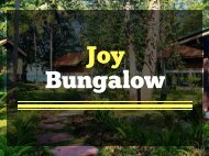 Enjoy Beach Resort Food at Joy Bungalow