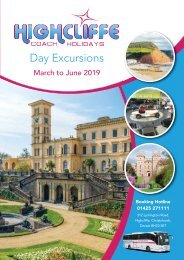 Highcliffe Day Trips - March - June 2019