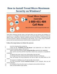 How to Install Trend Micro Maximum Security on Window?