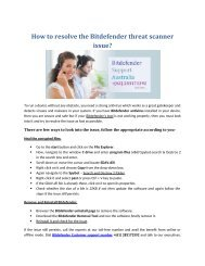 How to resolve the Bitdefender threat scanner issue