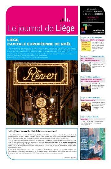 Votre Journal de Liège du mois de décembre 2018