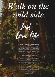 Walk on the wild side.