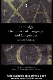 Routledge dictionary of language and linguistics - Developers
