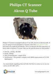 Philips CT Scanner _ Akron Q Tube