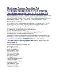 HII Mortgage Loans Paradise CA | 530-413-8909