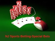 NJ Sports Betting - Special Bets
