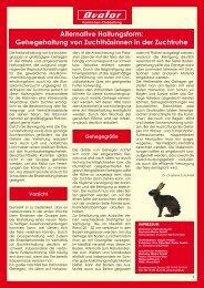 Alternative Haltungsform - Muskator-Werke GmbH