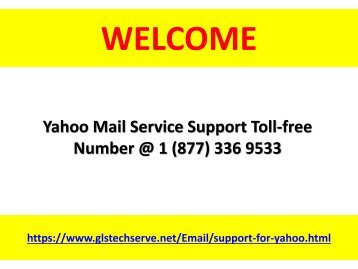 Yahoo Mail Technical Service Help Number +1-877-336-9533