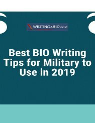 Best BIO Writing Tips for Military to Use in 2019