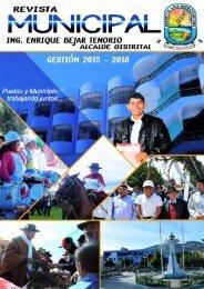 REVISTA MUNICIPAL DISTRITO DE LOS MORCHUCOS GESTION 2015 2018
