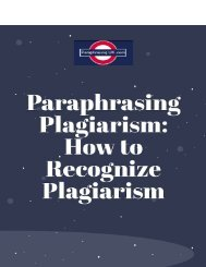 qualitative paraphrasing: How to Recognize Plagiarism
