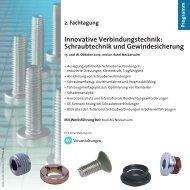 Programm Innovative Verbindungstechnik: Schraubtechnik und ...
