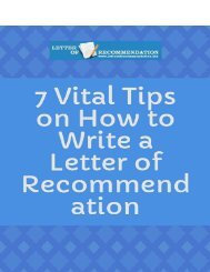 7 Vital Tips on How to Write a Letter of Recommendation