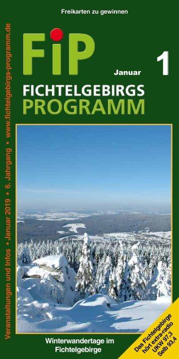 Fichtelgebirgs-Programm - Januar 2019