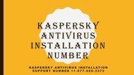 Kaspersky Antivirus Installation Support Number +1-877-929-3373