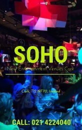 A Delicious New Lunch Menu and Entertainment venues At Soho
