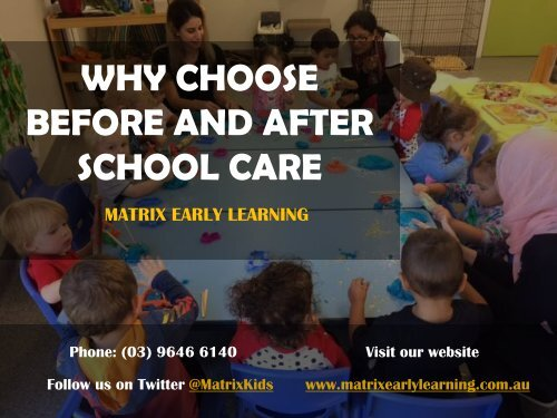 Why Choose Before and After School Care