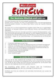 Der Muskator EliteClub stellt sich vor - Muskator-Werke GmbH