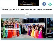 The Prom Party Bus In NYC That Makes You Party Exciting And Amazing