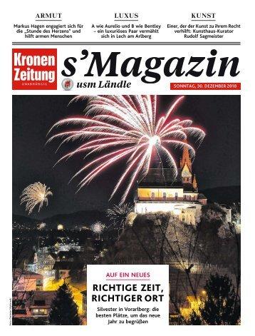 s'Magazin usm Ländle, 30. Dezember 2018