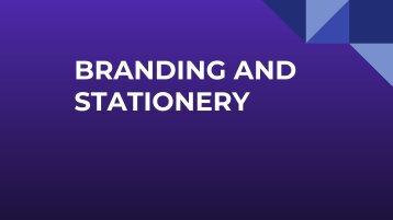 BRANDING & STATIONERY
