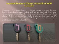 Important Reasons to Change Locks with a Cardiff Locksmith-converted