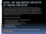 norton.com/setup - norton security by norton setup