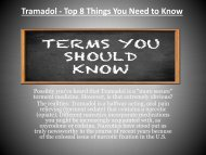 Tramadol - Top 8 Things You Need to-converted