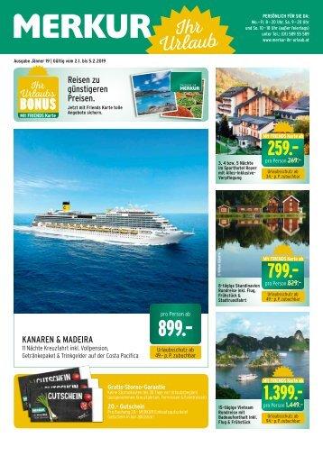 Merkur Ihr Urlaub Folder Jänner 2019