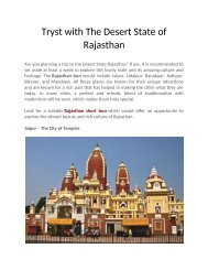 Tryst with The Desert State of Rajasthan