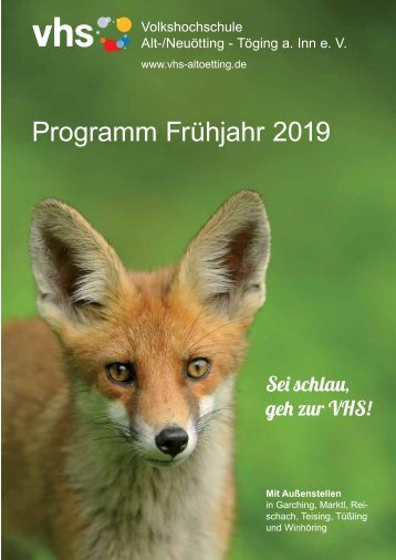 vhs-Programm Frühjahr 2019