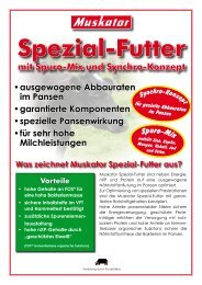 Sortenprogramm Spezial-Futter - Muskator-Werke GmbH