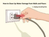 How to Clean Up Water Damage from Walls and Floors