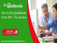 How to Fix QuickBooks Service Messages Error - Error 404