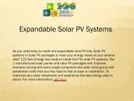 Expandable Solar PV Systems