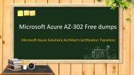 Microsoft Azure AZ-302 practice test