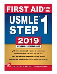 First Aid for the USMLE Step 1 2019, Twenty-ninth edition