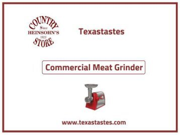 The best models of Commercial meat grinder - Texastastes