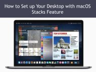 How to Set up Your Desktop with macOS Stacks Feature