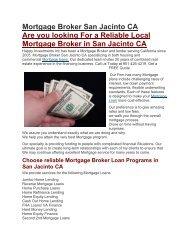 Hii Mortgage Loans San Jacinto CA | 951-426-4219