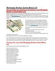 Hii Mortgage Loans Santa Maria CA | 805-623-0259