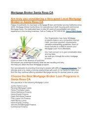 Hii Mortgage Loans Santa Rosa CA | 707-595-8150