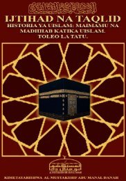 Swahili Ijtihad Na Taqlid Final Edtion - Al Mustakshif Abu ManalDanah
