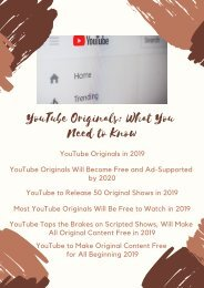 YouTube Originals: What You Need to Know