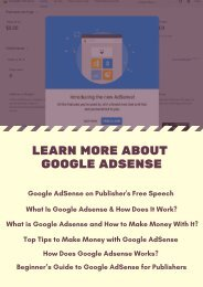Learn More About Google AdSense