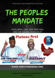 The Peoples Mandate
